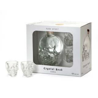 Crystal Head Vodka inkl. 2 Shotgläser