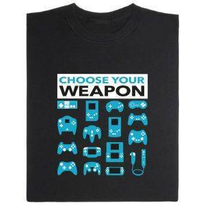 Fair gehandeltes Öko-T-Shirt: Choose Your Weapon Konsolen