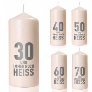 """Geburtstags-Kerze """"Immer noch heiß"""""""