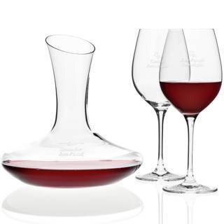 Leonardo: Rotwein-Set mit Gravur