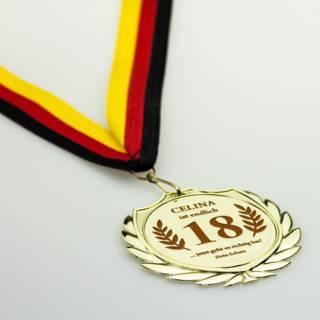 Mein persönlicher Sieger - gravierte Goldmedaille