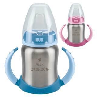 NUK-Trinklernflasche mit Gravur