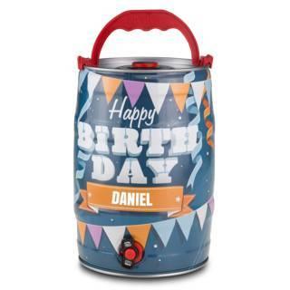 Personalisierbares 5-Liter-Partyfass zum Geburtstag