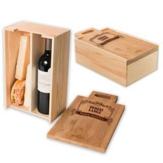 RACKPACK – gravierte Geschenkbox für Käse und Wein