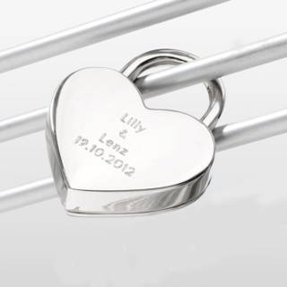 """Romantisches Liebesschloss """"Herz"""" mit Geschenkverpackung"""
