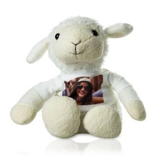 Stofftier Schaf mit persönlichem Foto