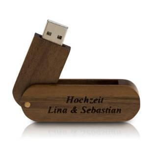 USB Flashdrive Holz mit Gravur 4GB